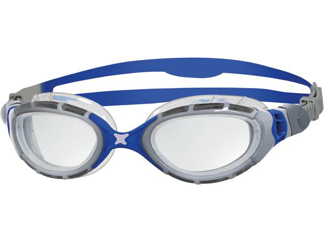 Zoggs Predator Flex Goggles silver/blue/clear